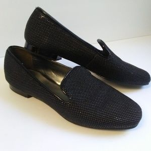 Donald J. Pliner Black Hazel Driving Flats Loafers